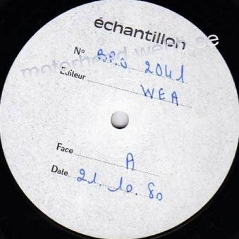 French test pressing